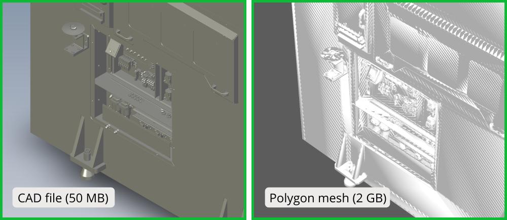 Cad-to-polygon-mesh-conversion