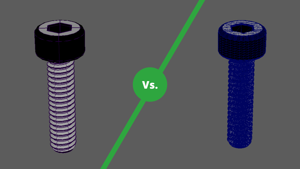 CAD vs polygon mesh comparison