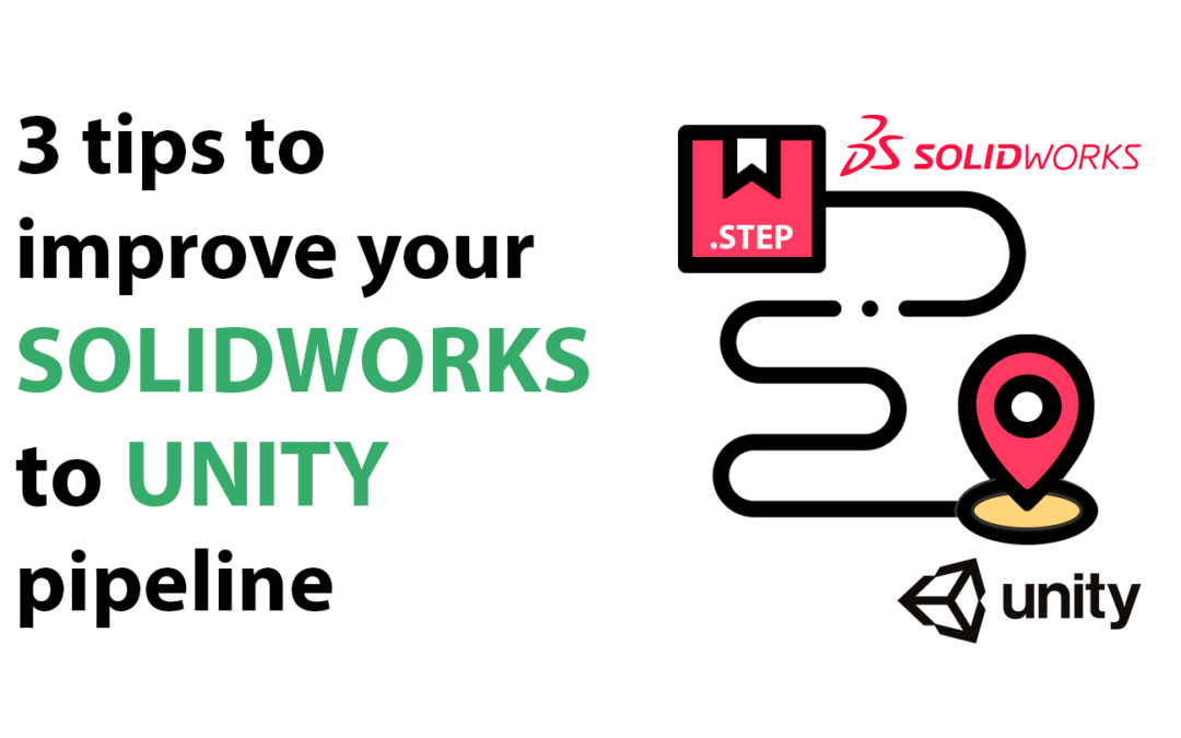 How to optimize a SolidWorks STEP file for visualization in Unity